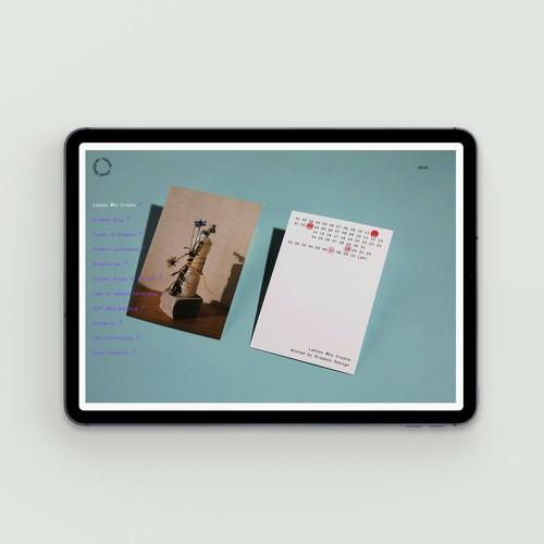 Portfolio website for graphic, typography and UX designer. San Francisco, California