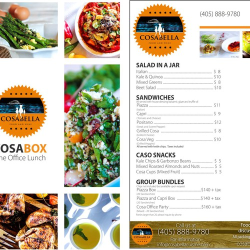 I NEED A MENU PRINTED ON A FLYER AND THEN IM LOOKING FOR FULL MENU TWITTER AND FACEBOOK DESIGN