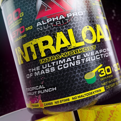 3d Rendering of a fitness supplement.