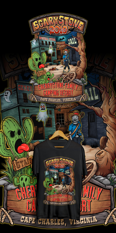 Scarystone 2019 T-Shirt Design for Cherrystone Family Camping Resort