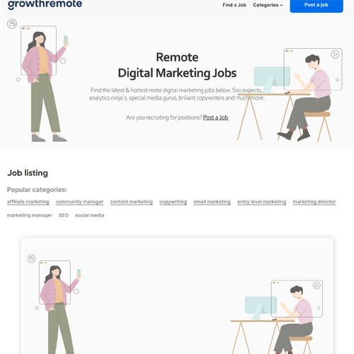 Illustration for a job search site