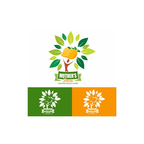 mother's farm logo design