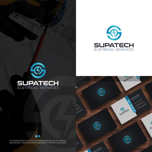 Design a bold, modern logo for an industrial electrical company.