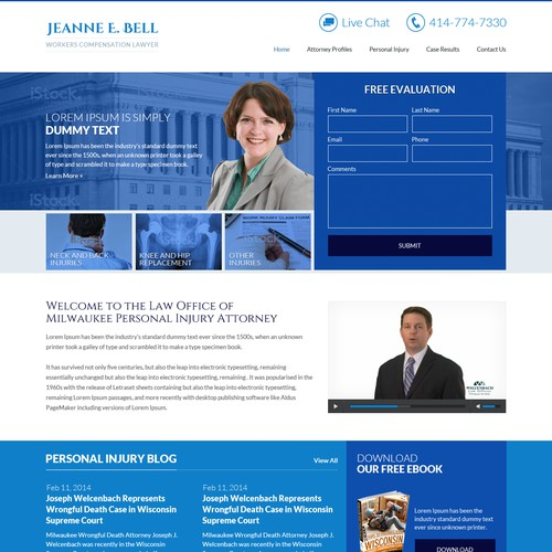 Create a website for Wisconsin Workers Compensation Lawyer
