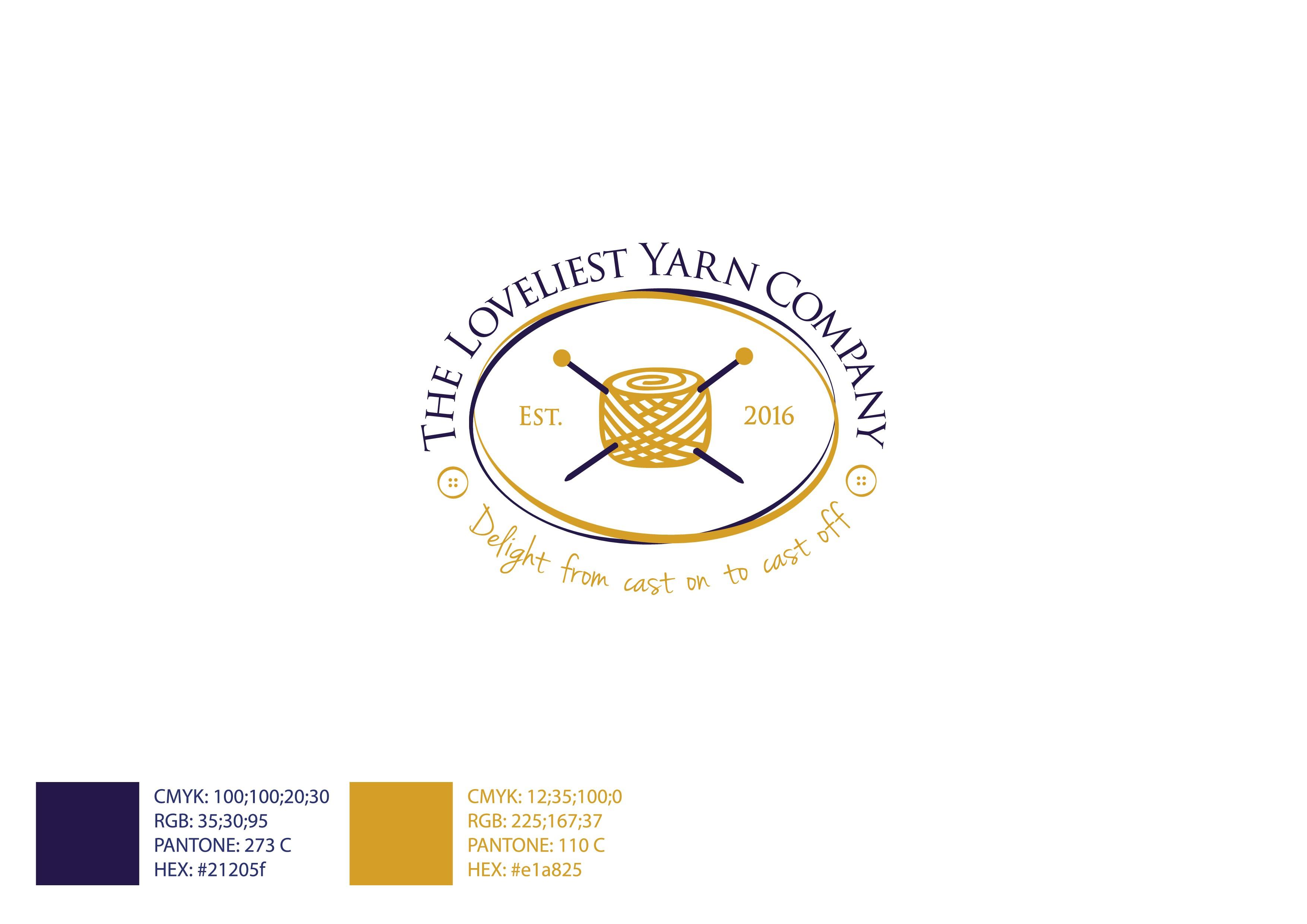 Create a timeless elegant logo for a specialist yarn retailer