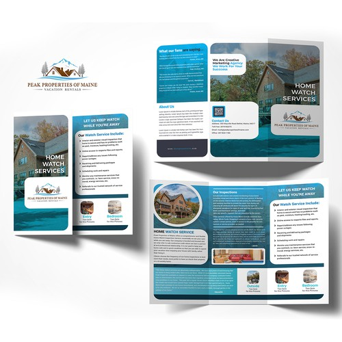 Brochure Design for Vacation Rental company