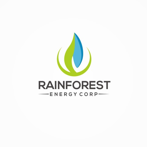 meaningful logo concept for energy corporation.