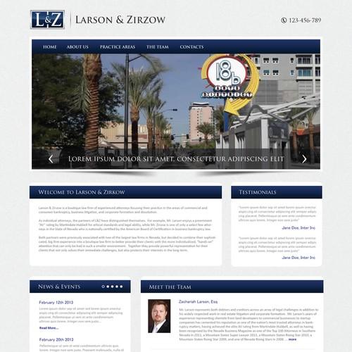 Create the next website design for Larson & Zirzow, LLC
