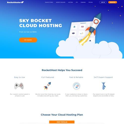 Web design for a hosting company