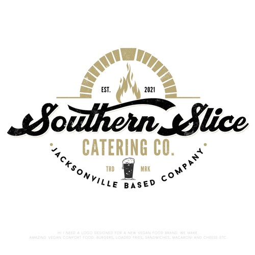 Bold logo concept for Southern Slice catering-co
