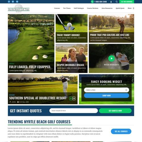 Golf Site booking Website