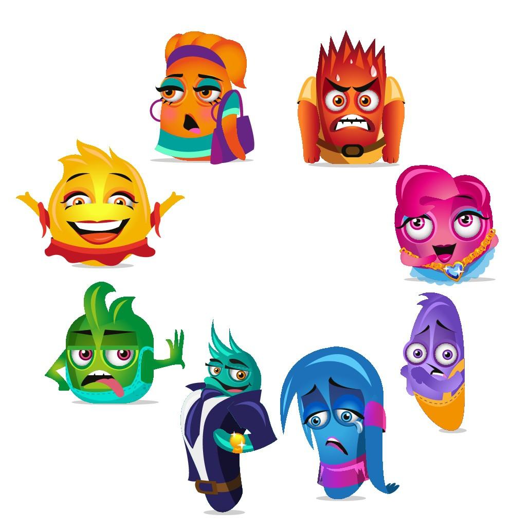 Design 5 Unique Characters that Represent Emotions