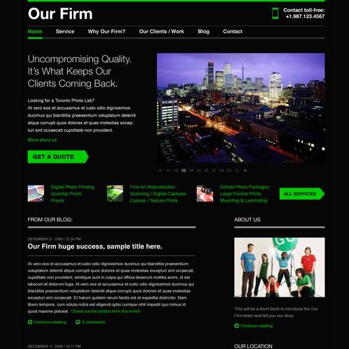 Photo Lab: Site design