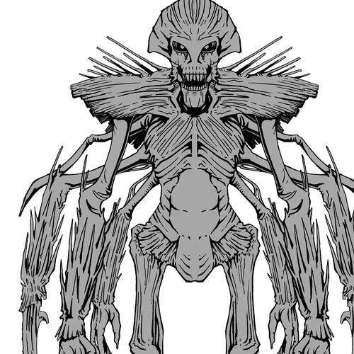 Alien Concept Art for Feature Film