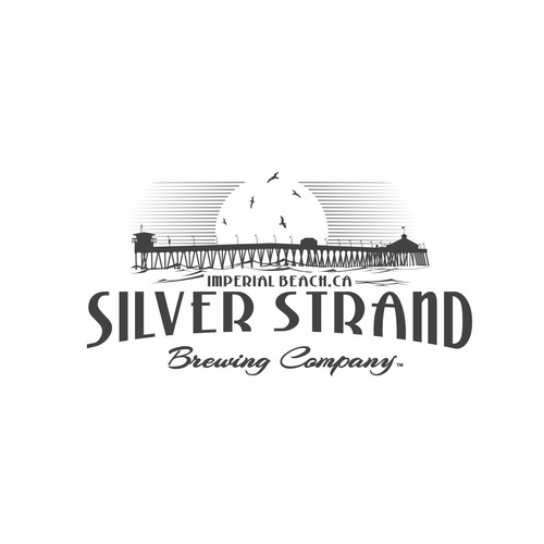 Create an amazing brand identity for Silver Strand Brewing Company in Imperial Beach, CA.