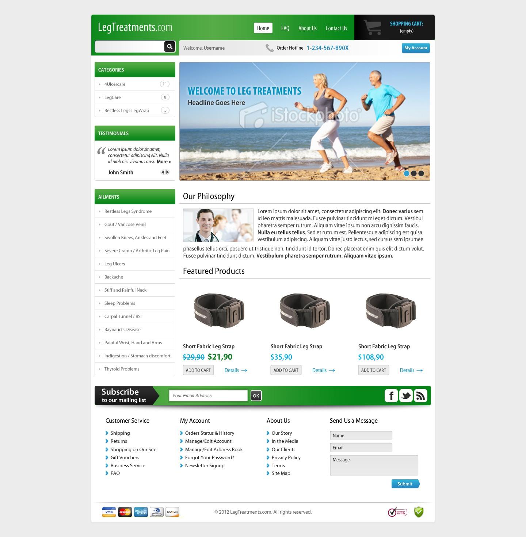 Leg Treatment website design