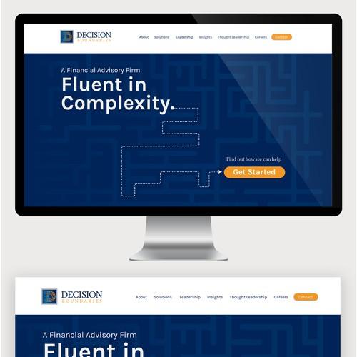 Website design for DecisionBoundaries