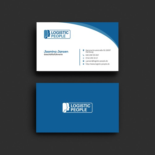 Business Card for Logistic Company
