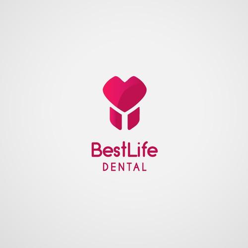 BestLife Dental logo design concept