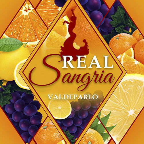 Create a more playful, fruity style SANGRIA label