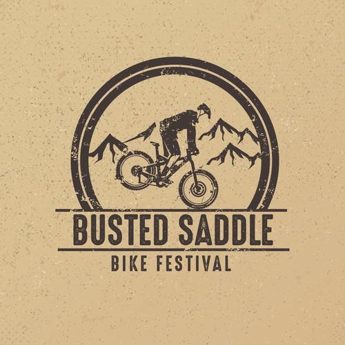 Grunge Logo For Bike Festival