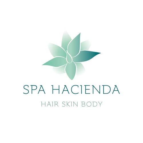 Create a logo for a a Texan spa & salon called Spa Hacienda