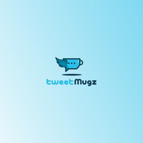 mug and tweet concep