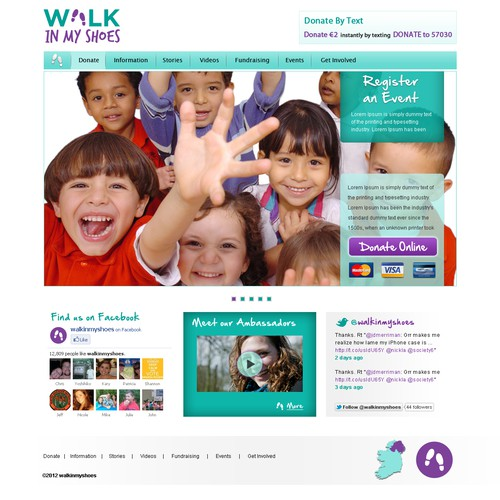 Fun, Creative Website for Mental Health Charity campaign