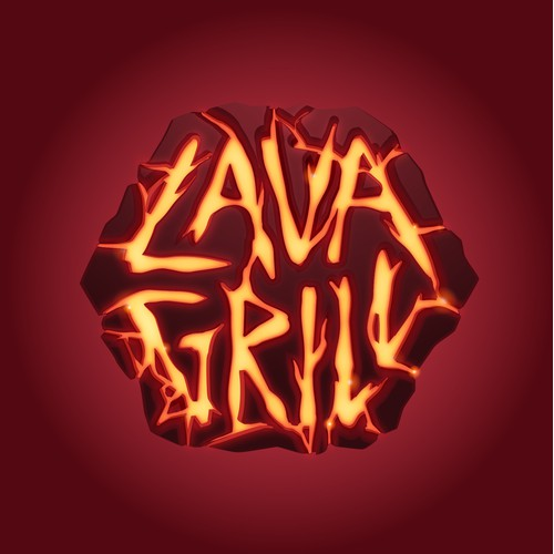 "Tropical Island ""Lava Grill"" Logo"