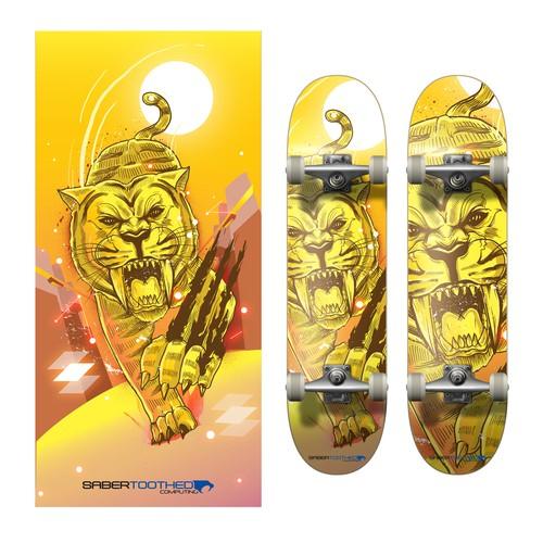 Sabertooth Board deck design