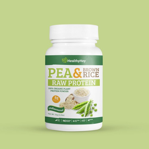 Pea & Brown rice Raw protein