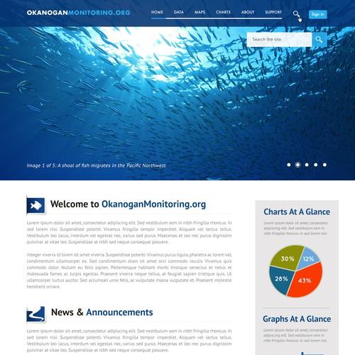 Create a visual design for a stream habitat data portal in the Pacific Northwest