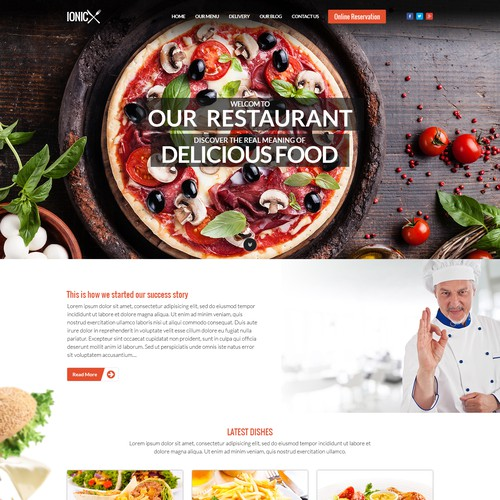restaurant website design contest