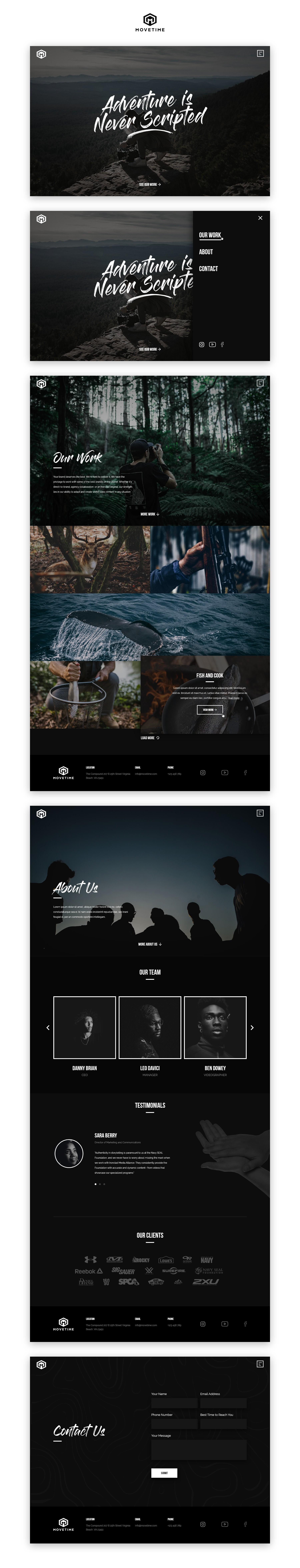 Video Production Company Website // Simplistic Design