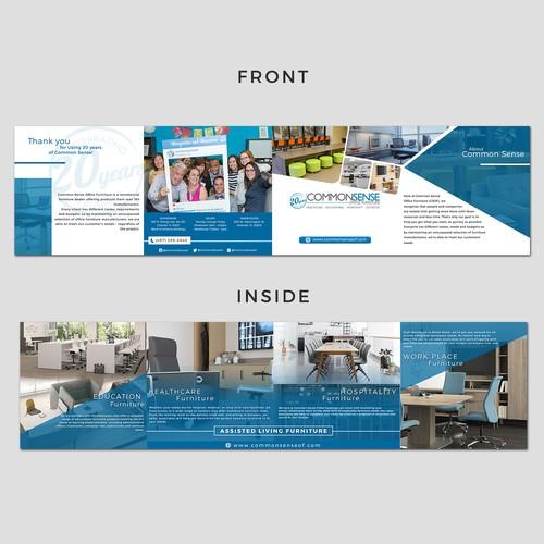 Brochure double gate design for commonsense