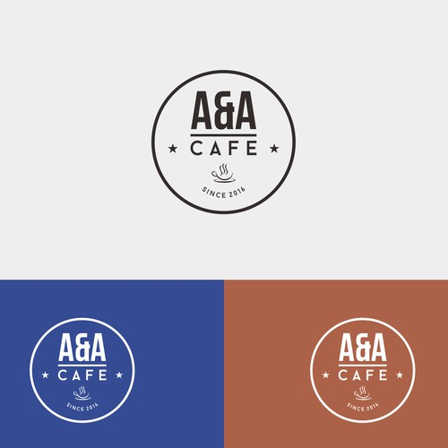 Clean logo for A&A cafe