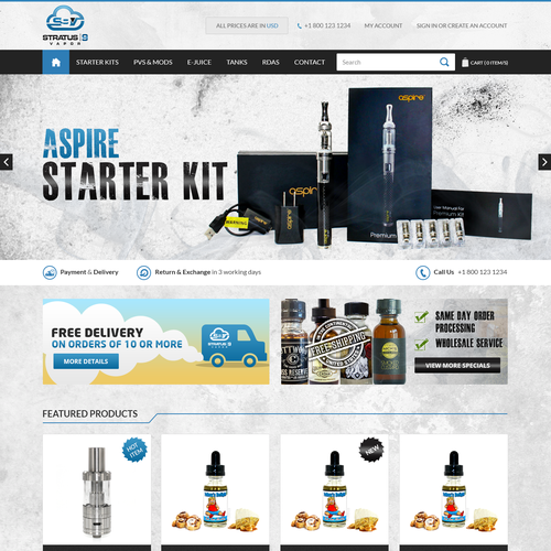 Vaporizer, Ecigarette, E-Juice, and accessories retail store!