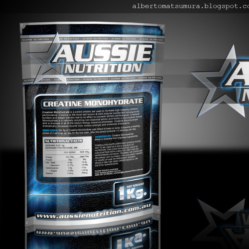 Create the next product packaging for AUSSIE NUTRITION
