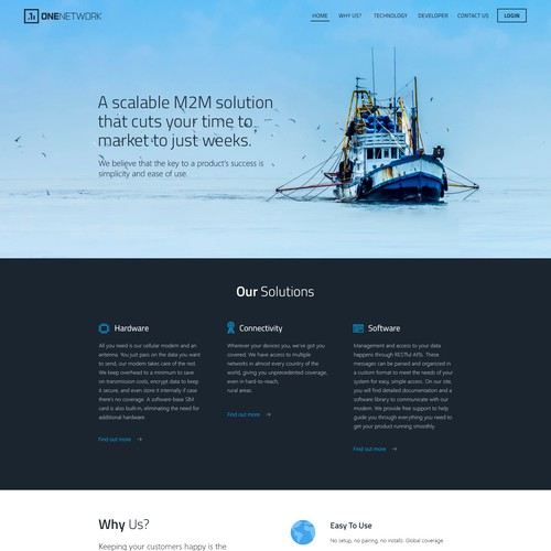 website for an innovative company one network