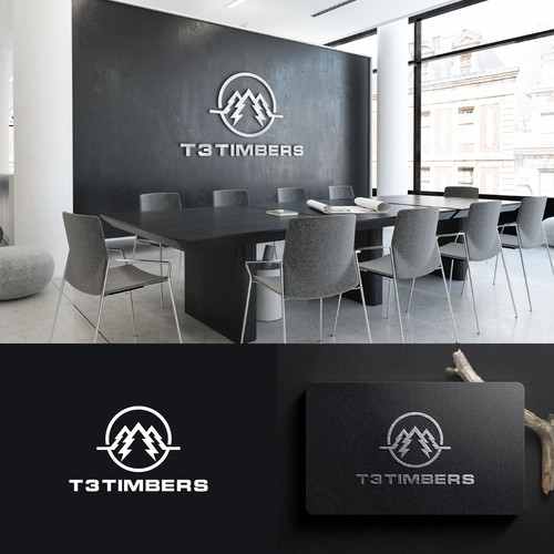 Logo Design for T3 Timbers