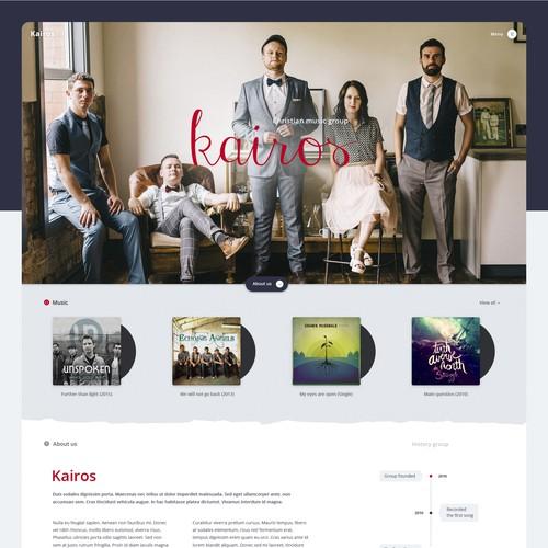 Music group - Website Design (2016)