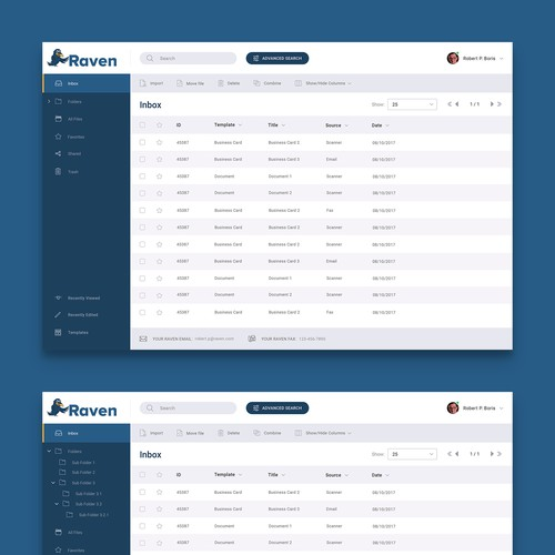 Create a set of AWESOME screens for Raven Cloud App