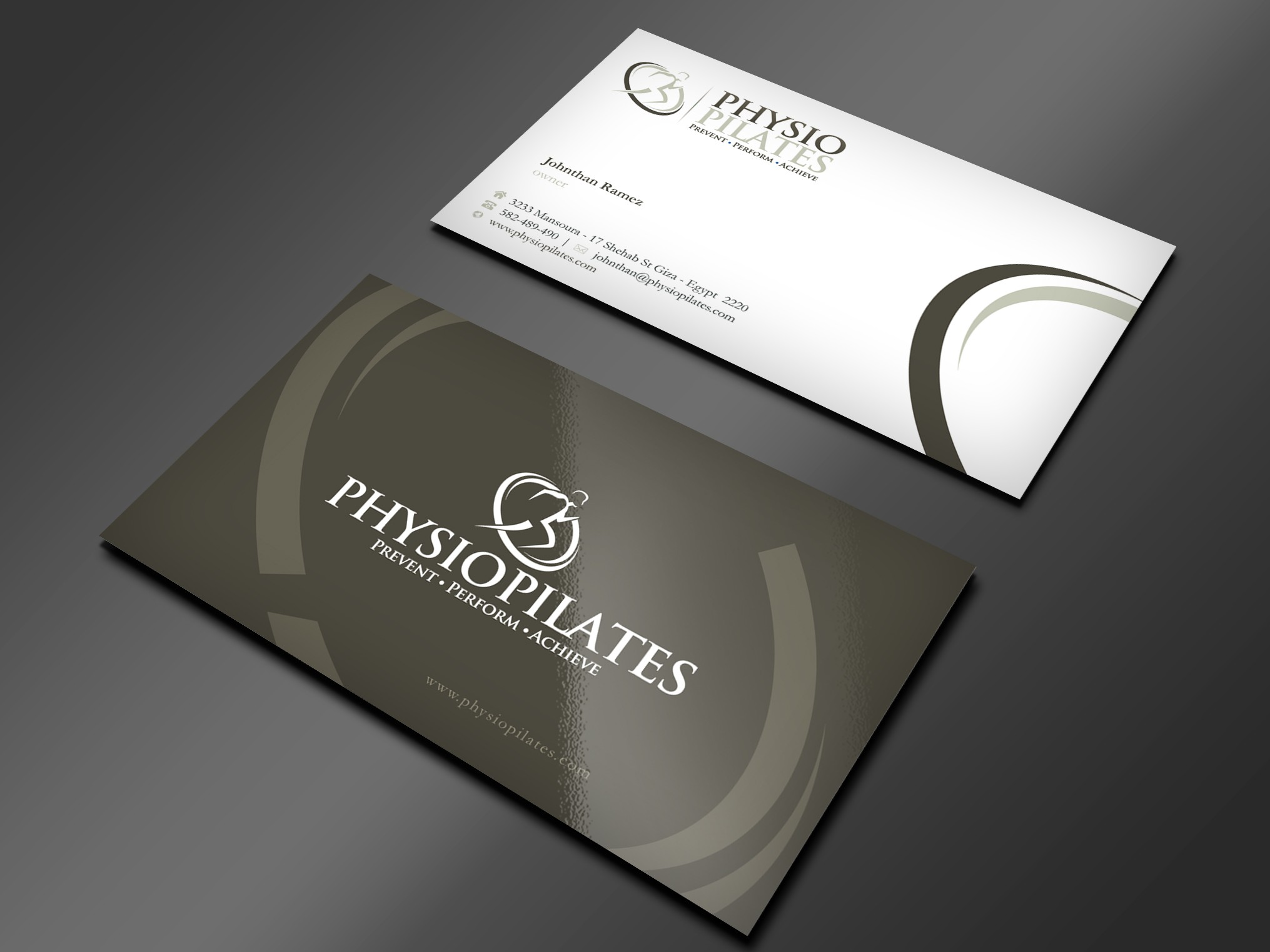 Physio Pilates needs a stationery design