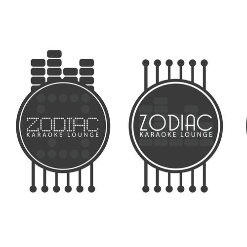 Lux & Modern Logo for ZODIAC Karaoke Lounge