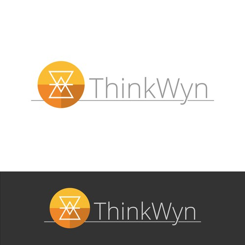 ThinkWyn, a modern legible and corporate logo
