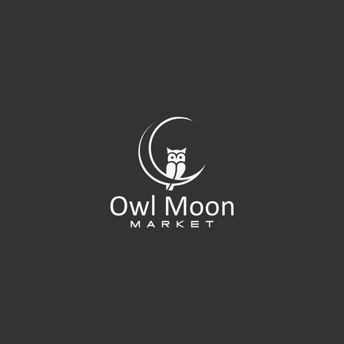 Need a knockout Owl and Moon idea for a logo.