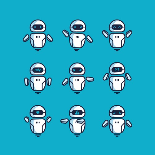 Robot Mascot for Artificial Intelligence and Social Media service