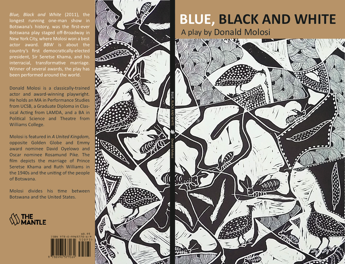 """Two Book Covers: """"Blue, Black and White"""" & """"Motswana: Africa, Dream Again"""""""