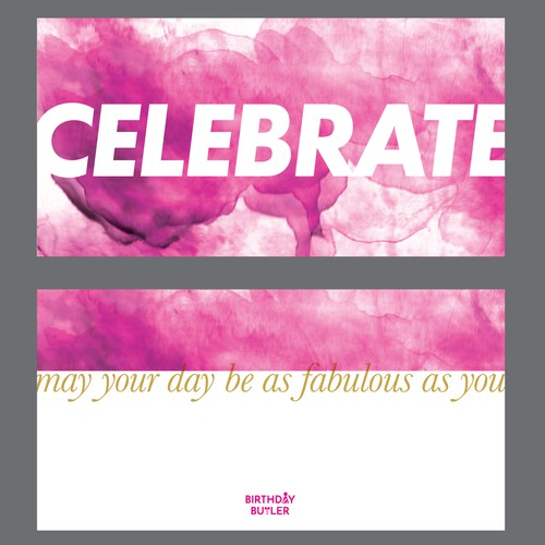 High-end Birthday card