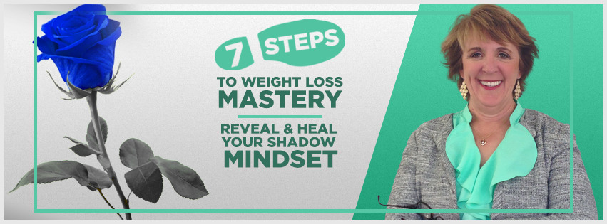 Create a FB cover for '7 steps to weight loss mastery: Reveal & Heal Your Shadow Mindset